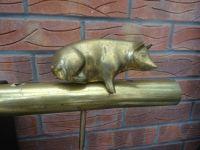 PIG IN LYING POSE TILLER PIN