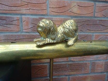 DOG LYING POSE (LONG HAIR) TILLER PIN